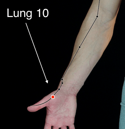 Lung 10 acupressure point