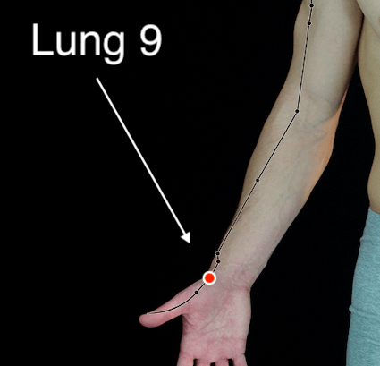 Lung 9 acupressure point