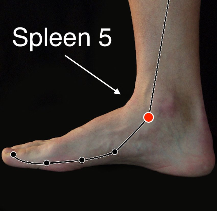 Spleen 5 acupressure point