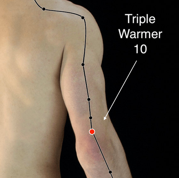 Triple Warmer 10 acupressure point