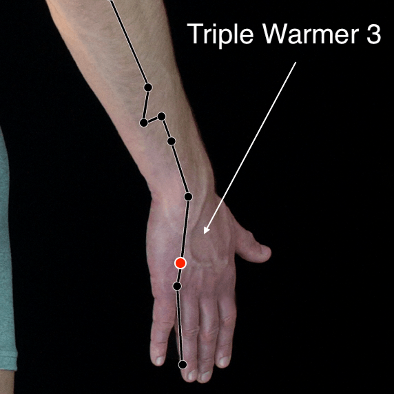 Triple Warmer 3 acupressure point