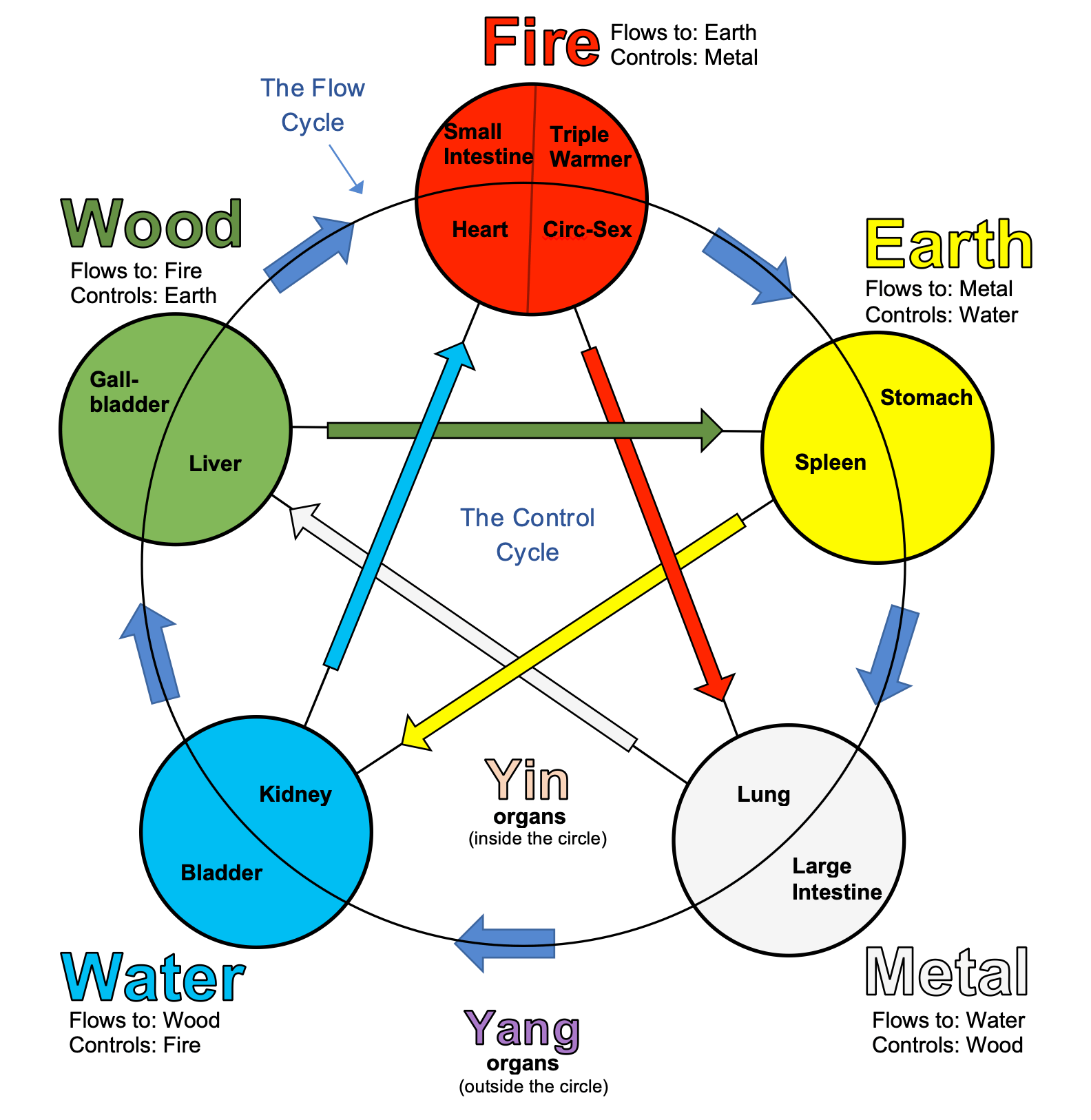 The Five Elements Wheel