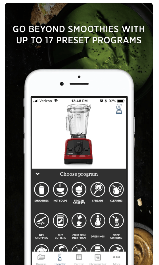 Vitamix App presets