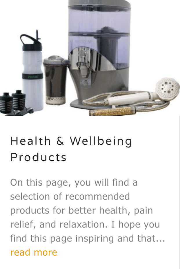 Health and Wellbeing Products